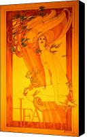 Nude Canvas Prints - Goddess of Health Canvas Print by Gary Kaemmer