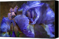 Florals Canvas Prints - Goddess Of Mystery Canvas Print by Carol Cavalaris