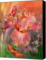 Peach Colored Canvas Prints - Goddess Of Spring Canvas Print by Carol Cavalaris