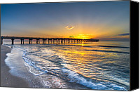 Florida Bridges Canvas Prints - Gods Glory Canvas Print by Debra and Dave Vanderlaan