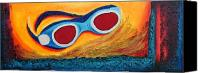 Fine Art Photography Painting Canvas Prints - Goggles in the sand Canvas Print by Mauro Celotti