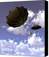 Umbrella Canvas Prints - Going Down Fast And Slow Canvas Print by Bob Orsillo