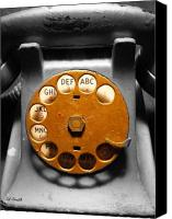 Antique Telephone Canvas Prints - Gold Finger Canvas Print by Ed Smith