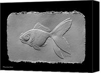 Fish Reliefs Canvas Prints - Gold fish1a Canvas Print by Suhas Tavkar