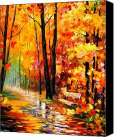 Lanscape Canvas Prints - Gold Impression  Canvas Print by Leonid Afremov