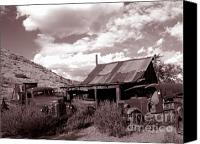 Old Trucks Photo Canvas Prints - Gold King Mine near Jerome Canvas Print by Alex Cassels