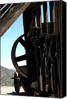 Old Mill Scenes Canvas Prints - Gold Mining Stone Crusher Canvas Print by LeeAnn McLaneGoetz McLaneGoetzStudioLLCcom