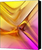 Fine Art Fractal Art Canvas Prints - Golden Abstract 042711 Canvas Print by David Lane