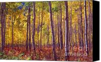 Treescape Canvas Prints - Golden Aspens of Owl Creek Pass Canvas Print by Alex Cassels