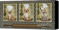 Vet Canvas Prints - Golden Chefs Canvas Print by Susan Candelario