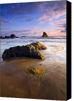 Beach Canvas Prints - Golden Coast Canvas Print by Mike  Dawson