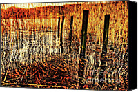 Derelict Canvas Prints - Golden Decay Canvas Print by Meirion Matthias