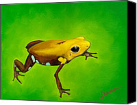 Poison Canvas Prints - Golden frog of Supata Canvas Print by Sabina Espinet