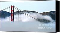 City Of Bridges Canvas Prints - Golden Gate Bridge Cloud Cover Canvas Print by Tap On Photo