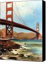 Golden Gate Pastels Canvas Prints - Golden Gate Bridge Looking North Canvas Print by Donald Maier