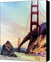 Golden Gate Pastels Canvas Prints - Golden Gate Bridge Looking South Canvas Print by Donald Maier