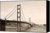 Frisco Canvas Prints - Golden Gate Bridge San Francisco - A thirty-five million dollar steel harp Canvas Print by Christine Till
