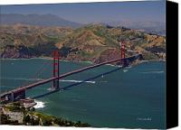 Golden Gate Canvas Prints - Golden Gate Canvas Print by Donna Blackhall