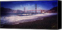 San Francisco Photo Canvas Prints - Golden Gate Canvas Print by Everet Regal