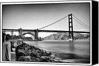 Golden Gate Canvas Prints - Golden Gate From Fort Point Canvas Print by Tanya Harrison