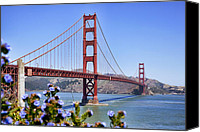 Frisco Canvas Prints - Golden Gate Canvas Print by Kelley King