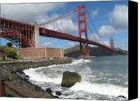 Golden Gate Canvas Prints - Golden gate Canvas Print by Kim Pascu