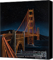 Golden Gate Canvas Prints - Golden Gate Canvas Print by Lynette Cook