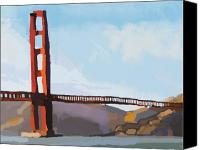 Golden Gate Canvas Prints - Golden Gate Three Canvas Print by Brad Burns