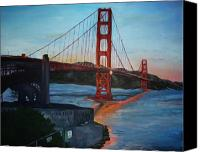 Golden Gate Canvas Prints - Golden Gate Canvas Print by Travis Day