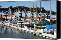 Yachts Canvas Prints - Golden Gate Yacht Club At The San Francisco Marina - 5D18267 Canvas Print by Wingsdomain Art and Photography