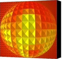 Second Chakra Canvas Prints - Golden-Globe Canvas Print by Ramon Labusch