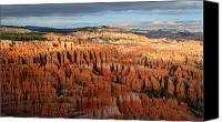 Thor Canvas Prints - Golden glow in Bryce Canyon Canvas Print by Pierre Leclerc