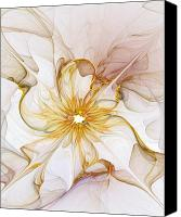 Flowers Digital Art Canvas Prints - Golden Glow Canvas Print by Amanda Moore