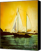 Kipdevore Canvas Prints - Golden Harbor  Canvas Print by Kip DeVore
