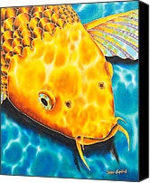 Daniel Jean-baptiste Canvas Prints - Golden Koi Canvas Print by Daniel Jean-Baptiste