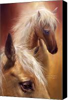 The Art Of Carol Cavalaris Mixed Media Canvas Prints - Golden Palomino Canvas Print by Carol Cavalaris
