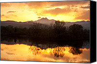 Rocky Mountains Canvas Prints - Golden Ponds Longmont Colorado Canvas Print by James Bo Insogna