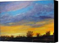 Rafael Gonzales Canvas Prints - Golden Sunset Canvas Print by Rafael Gonzales