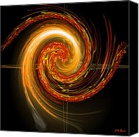 Mathematical Canvas Prints - Golden Swirl Canvas Print by Michael Durst