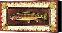 Flyfishing Canvas Prints - Golden Trout Lodge Canvas Print by JQ Licensing