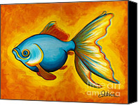 Featured Painting Canvas Prints - Goldfish Canvas Print by Sabina Espinet