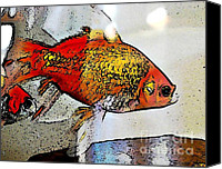 Goldfish Canvas Prints - Goldfish Canvas Print by Sarah Loft
