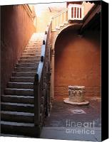 Italia Canvas Prints - Goldoni House. Venice Canvas Print by Bernard Jaubert