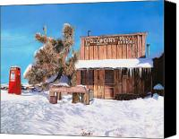 Gas Canvas Prints - GoldPoint-Nevada Canvas Print by Guido Borelli