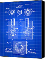 Invention Canvas Prints - Golf Ball Patent Canvas Print by Stephen Younts