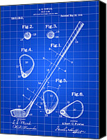 Golf Canvas Prints - Golf Club Patent Canvas Print by Stephen Younts