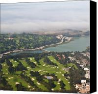 Field Sports Canvas Prints - Golf Course Canvas Print by Eddy Joaquim