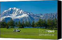 Alp Canvas Prints - Golf course Riederalp Swiss Alps Switzerland Canvas Print by Matthias Hauser