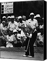 Spectators Canvas Prints - Golf Pro Jack Nicklaus, August, 1984 Canvas Print by Everett