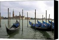 Grand Home Canvas Prints - Gondolas Canvas Print by Mike Lester